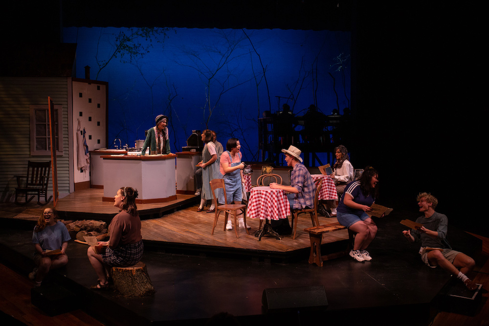 Ensemble singing in the 2019 production of The Spitfire Grill