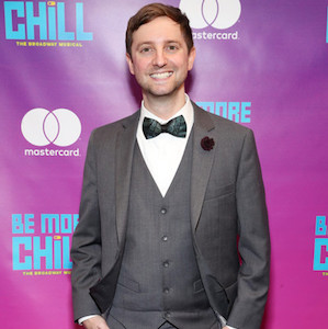 Joe Tracz at the premiere of his musical Be More Chill