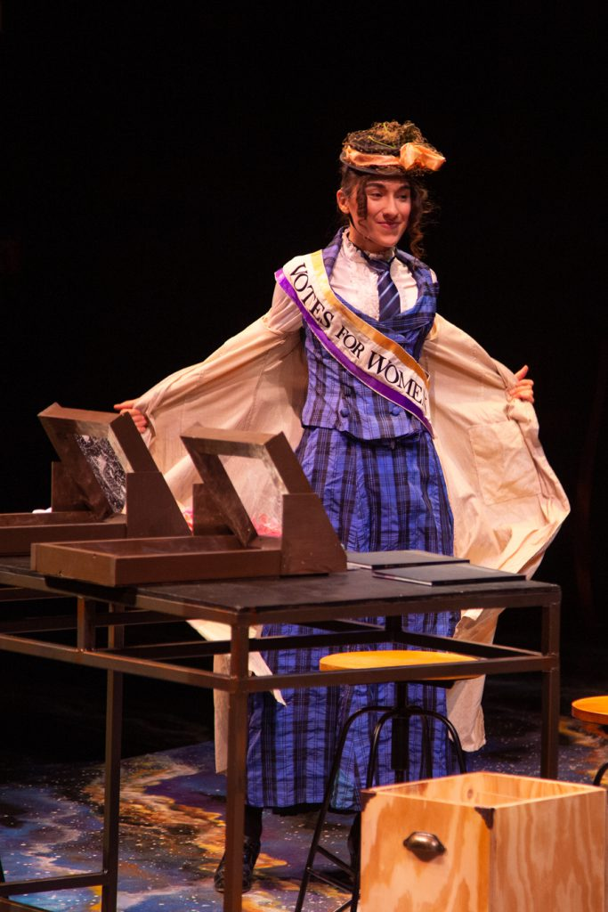 Annie Cannon wearing a vote for women sash